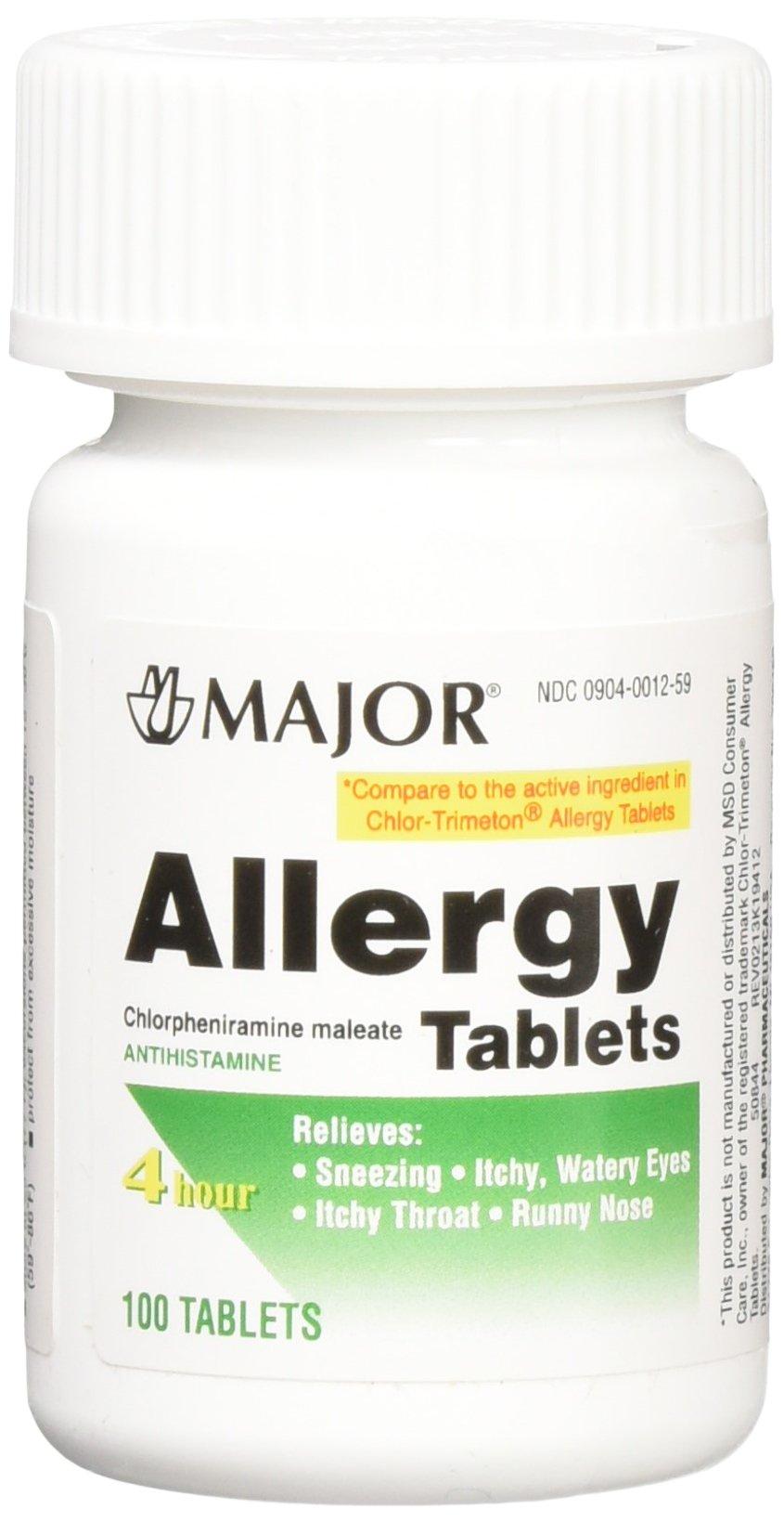 Chlorpheniramine 4mg Tabs - Pet Allergy Relief 100ct