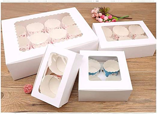 Caja de regalo grande para magdalenas de color marrón, 6 cajas ...