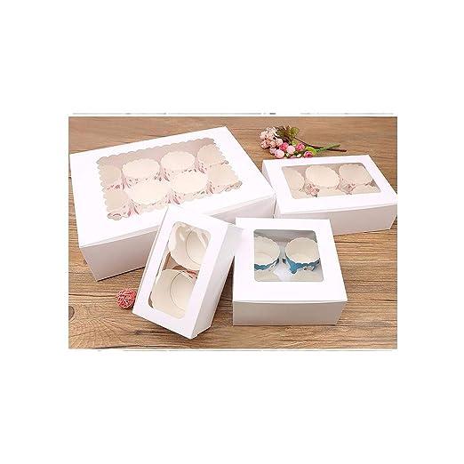 Caja de regalo grande para magdalenas de color marrón, 6 ...
