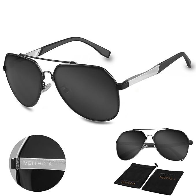 VEITHDIA 3598 ajustable HD Polarizado Aviator gafas de sol para pesca conducción