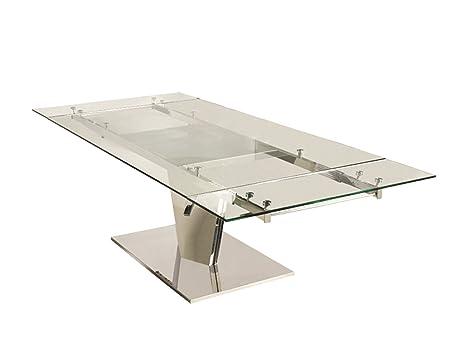 Amazon.com: Casabianca Muebles Mesa De Comedor extensible de ...