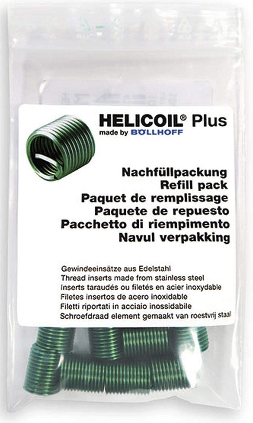 HELICOIL Plus Gewindeeins/ätze Nachf/üllpackung M10x15 P1,25 metrisch 10 St/ück