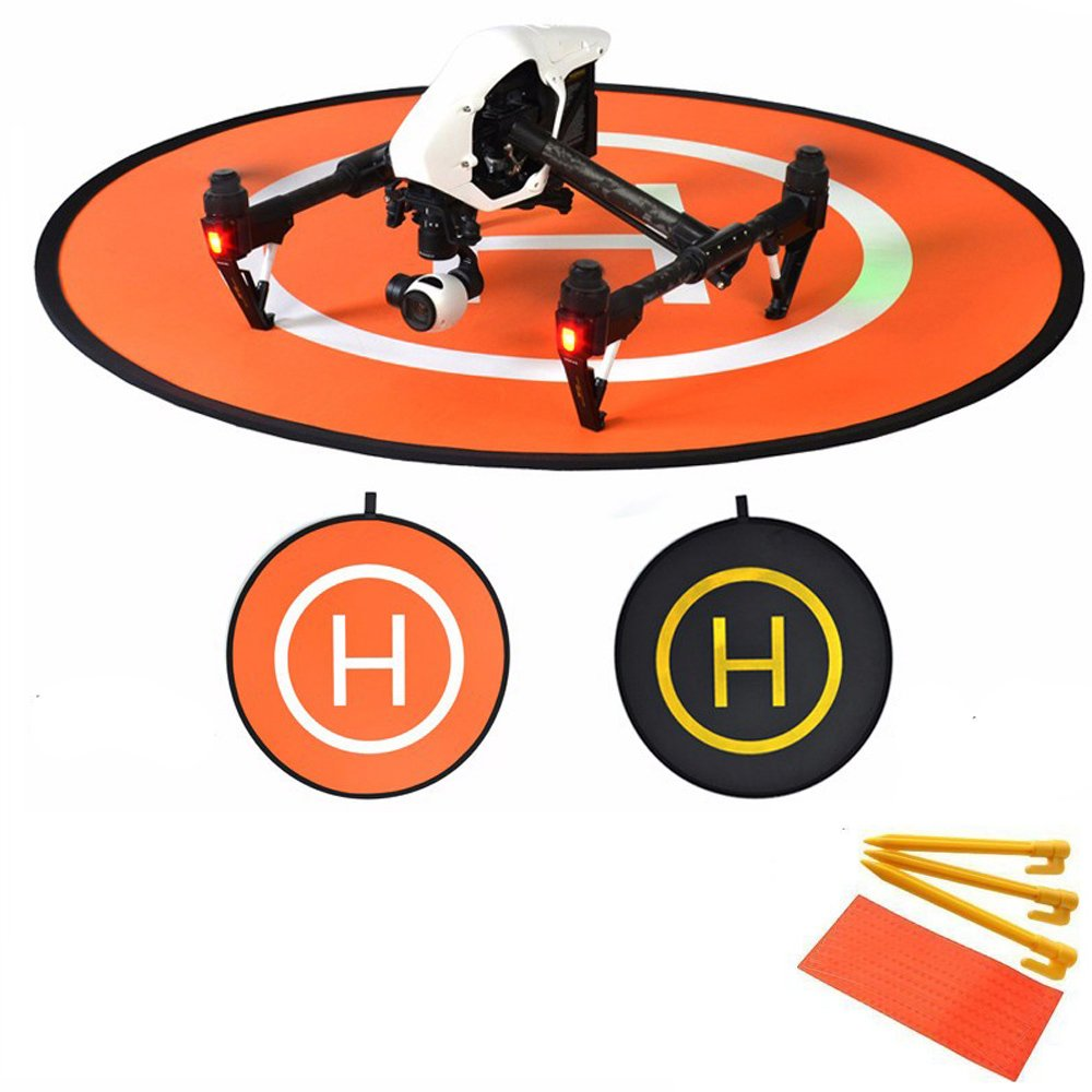 kingwon Helicóptero Aterrizaje Colchoneta Pad Plegable Mini Portable Landing Pad Parking Delantal Helipad para DJI Mavic Pro Inspire 1 Phantom 2 3 4 Helipuerto 110cm Kingwon Tech