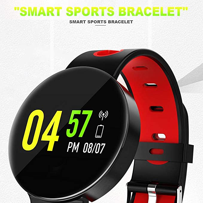 AOLVO CF01 Blueteeth Smart Watch Color Screen Wristwatch Fitness Tracker Waterproof Blood Pressure Monitor Watch for Android/iPhone Smart Phones