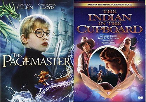 The Pagemaster & Indian in the Cupboard DVD Set Classic Family Fantasy Movie Bundle Double Feature