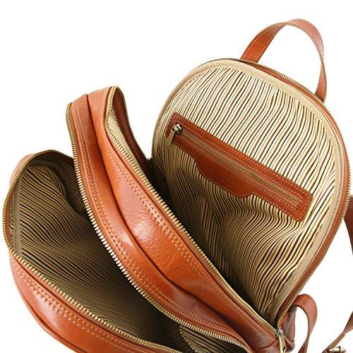 Tuscany Leather 81417114 OSAKA - Notebook Rucksack aus Leder, Honig