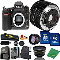 Great Value Bundle for D750 DSLR – 50MM 1.8D + 2PCS 32GB Memory + Wide Angle + Telephoto Lens + Backpack
