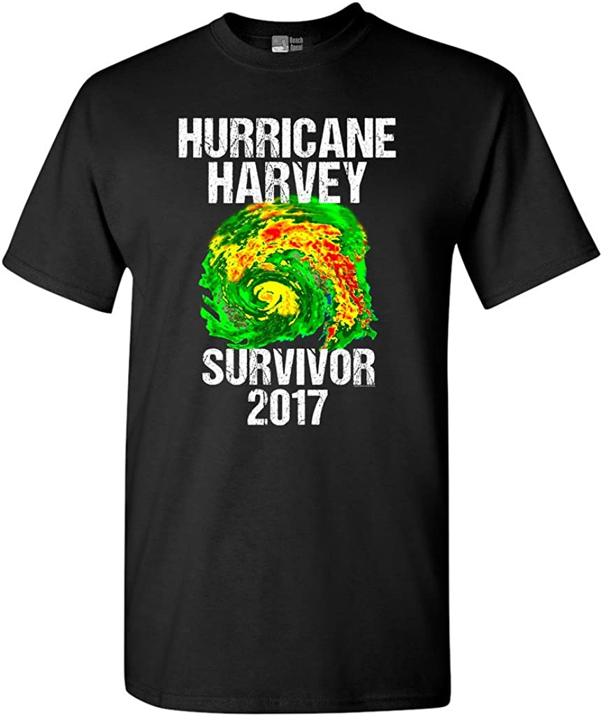 Hurricane Harvey Storm Survivor Houston Texas 2017 DT Adult T-Shirt Tee