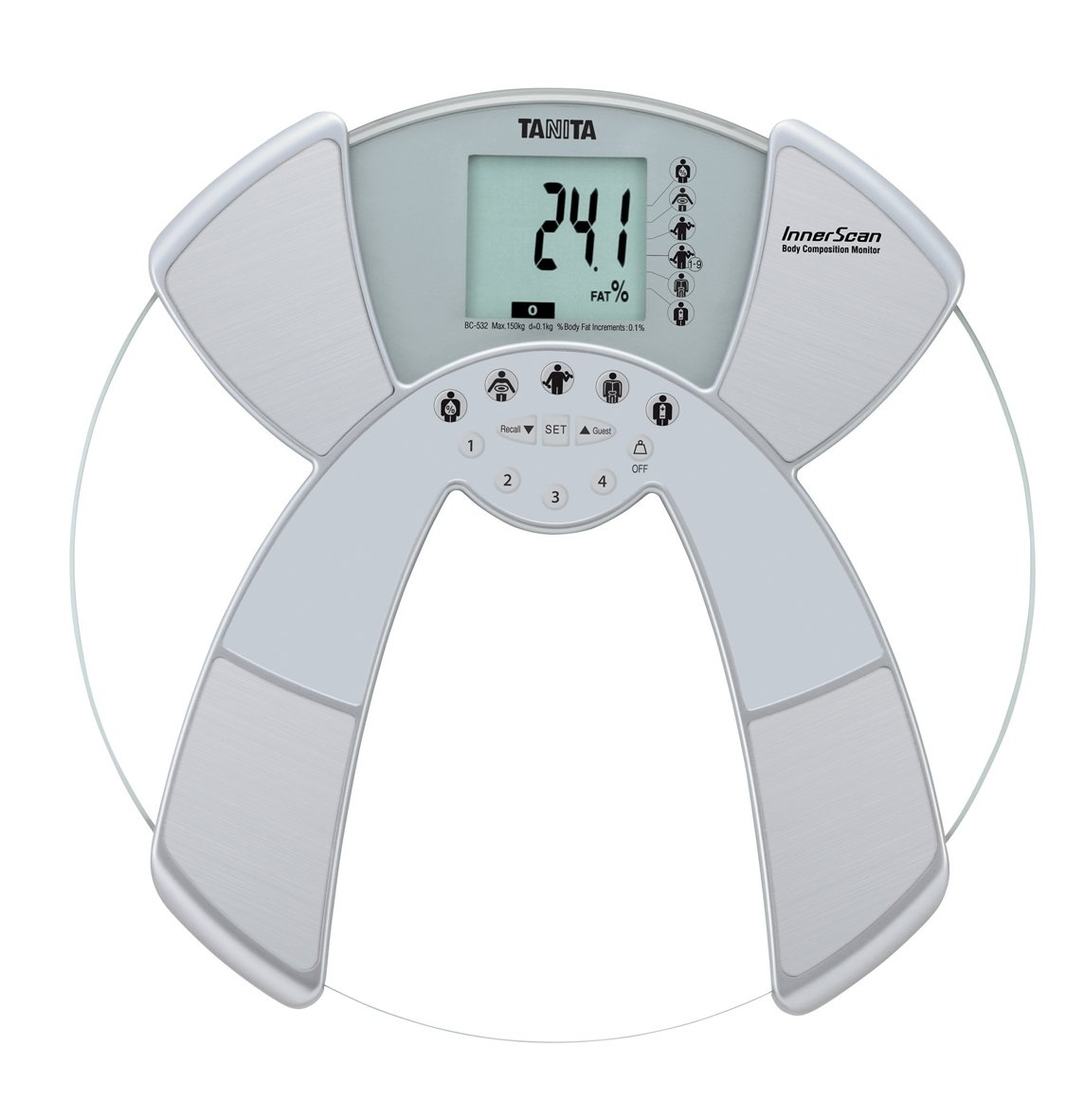 Tanita BC532 Body Composition Glass Bathroom Scales BC 532 Tanita BC532.4 Body Fat Counters Health & Fitness Monitors