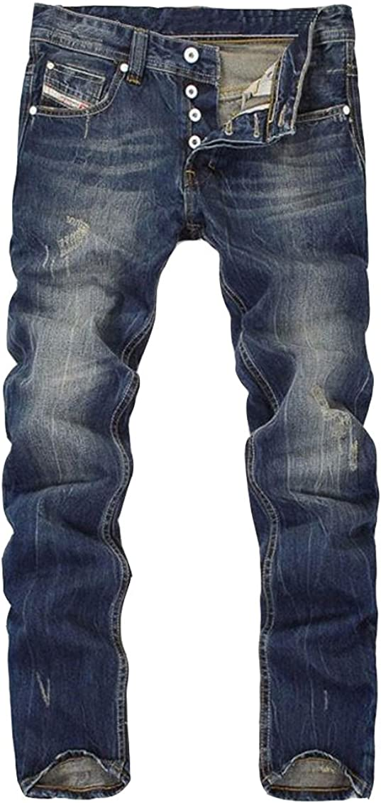 Jeans Look Us/é Homme Destroy D/échir/é Style D/écontract/ée Pantalon Denim