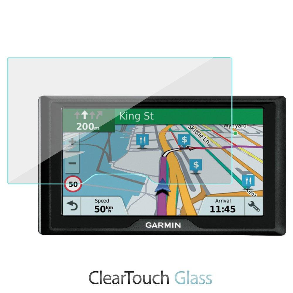 Garmin DriveSmart 60lmtスクリーンプロテクター、BoxWave [ ClearTouchガラス] 9h強化ガラス画面保護for Garmin DriveSmart 60lmt B07BC6DKN1