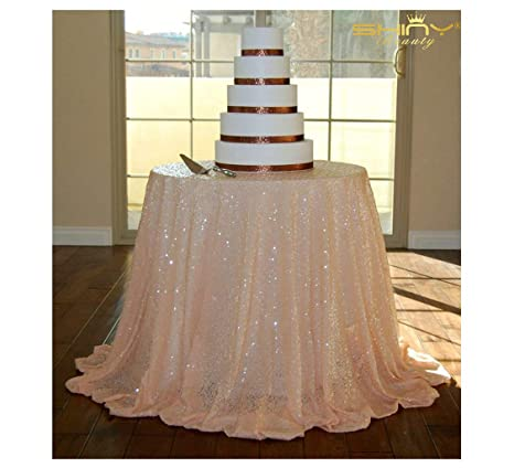 168677898a90 Amazon.com  ShiDianYi Round Sequin Tablecloth-60 Inch- For Wedding ...