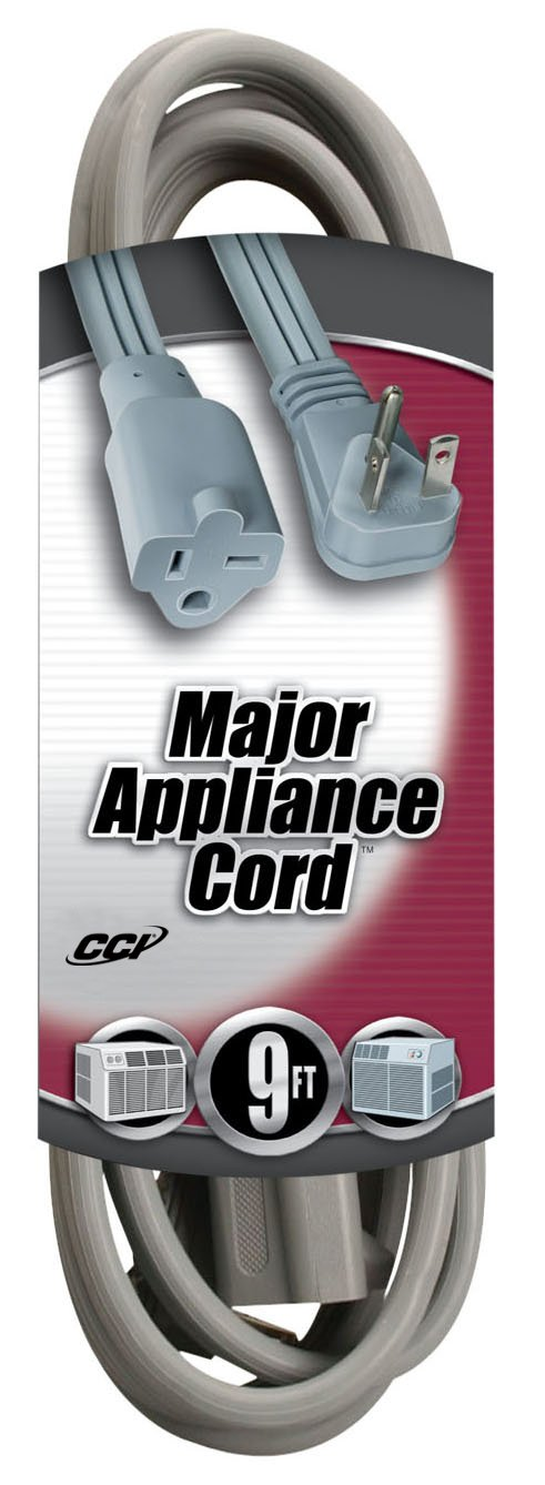 Southwire 03537 12/3 9-Foot Appliance/ Air Conditioning Cord, Gray