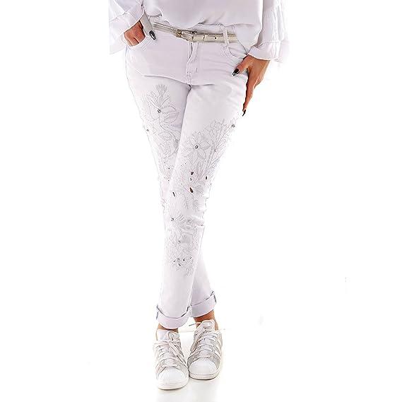 366e36e1e8af9 Noir Triple XXX - Jeans - Skinny - Femme Blanc blanc - Blanc - Taille Unique