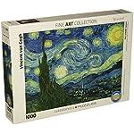 Puzzle 1000 Pezzi 1925x265 Van Gogh Notte Stellata