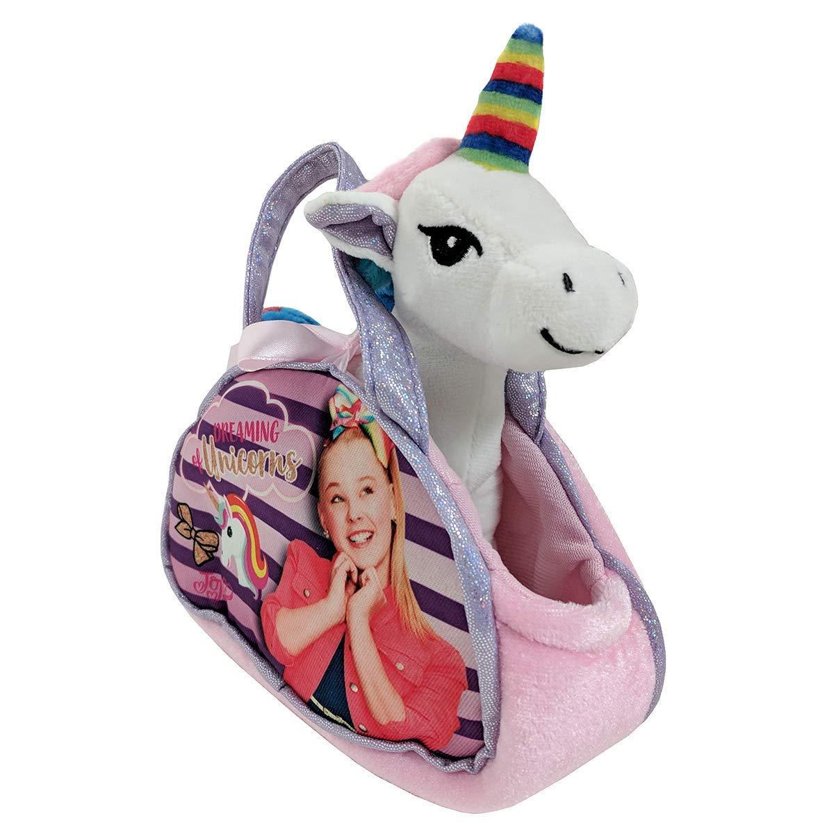 Nickelodeon JoJo Siwa Dreaming of Unicorns Purse W/Removable Plush Unicorn & JoJo Rainbow Hair Bow - Multi Value Bundle by By JoJo Siwa (Image #2)