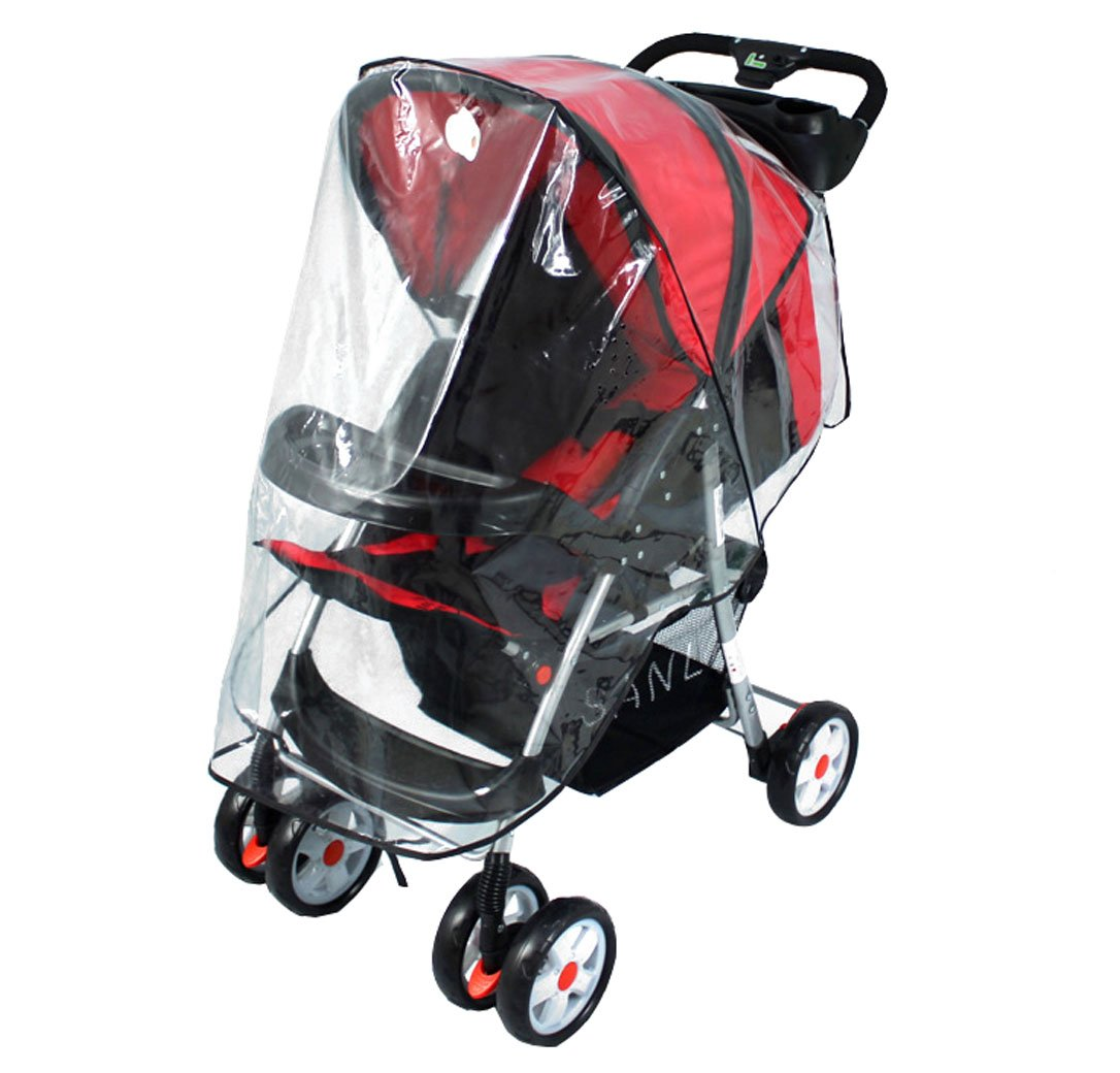 AshopZ Universal Stroller Pushchair Clear Rain Cover Canopy Weather Wind Shield