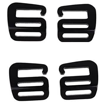 d60fed7dc04b Amazon.com: MagiDeal 4 Pcs Alloy G Hook Outdoor Webbing Buckle For ...