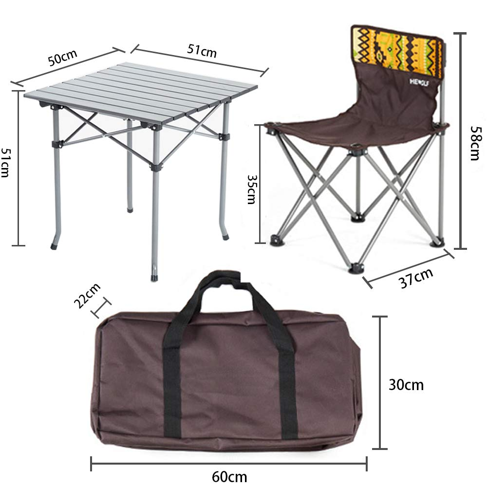 Kalwason Baby Kids Camping Chairs and Table – Lightweight Portable Folding Chairs with a Carry Bag for Family Camping Trip, Beach, Backpacking & Picnic, 16lbs Weight by Kalwason (Image #2)