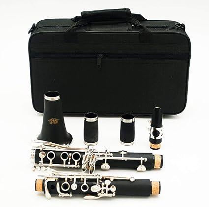 Clarinete ABS 17 teclas bB Falling Tune B plana Soprano Binocular clarinete con estuche Instrumento Woodwind: Amazon.es: Instrumentos musicales
