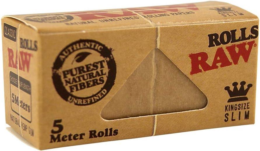 Unbekannt Raw Classic Rolls Slim Juego De 12 Rollos De Cinta De Persiana 5 M Sin Blanquear Amazon Es Hogar