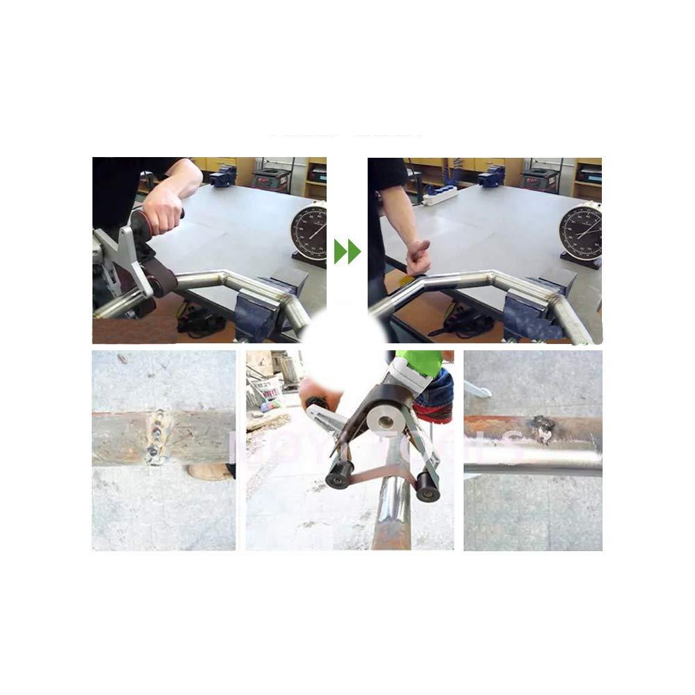 180 mm Durchmesser Sander Polisher Grinder Professionelle Rohrband-Rohrschleifer und Polierer zum Polieren Finishing Steel Edelstahl Rohrbandschleifer