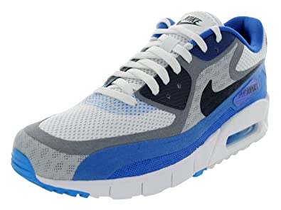 2b35670261be0 NIKE Men s Air Max 90 Br White Drk Obsdn Cl Gry Vrsty R Running Shoe ...