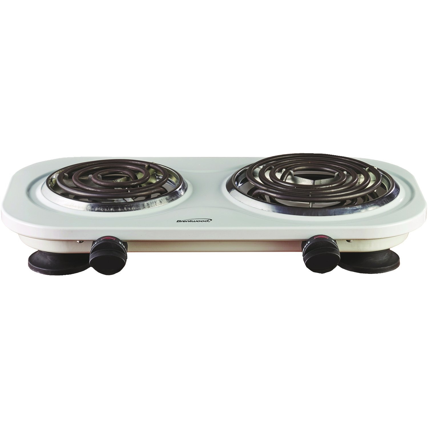 Brentwood TS-321W 1000w Single Electric Burner, White by Brentwood (Image #1)