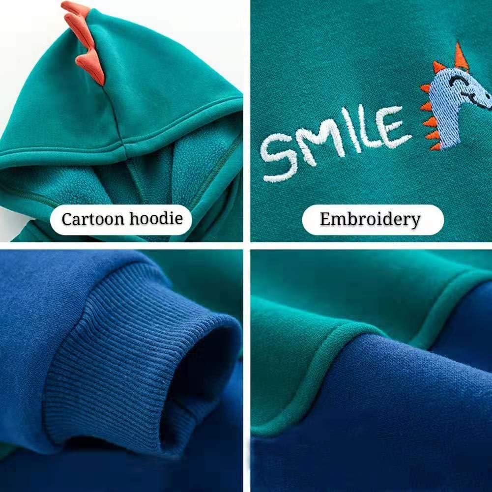 Lazzon Bambino Felpa con Cappuccio Giacche in Pile Hoodie Cappotto Manica Lunga Pullover Casual per 1-8 Anni