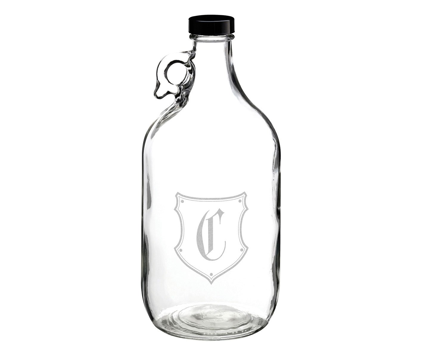 Lillian Rose Glass Growler Monogram Letter C