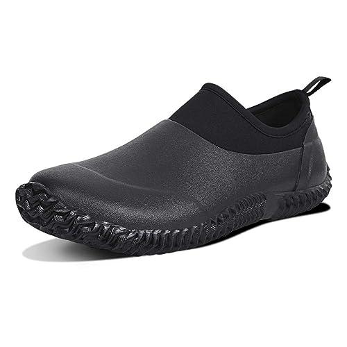 DAWAN Men Garden Shoes Women Waterproof Rain Shoes Car Wash Rain Boots Outdoor Footwear Review