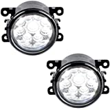 2X 55W LED Fog Light Lamps For Ford Focus Mustang Ranger Fiesta Fusion Explorer C-Max Transit Connect Freestyle Taurus X - RE: 4F9Z15200AA 3225-2050B