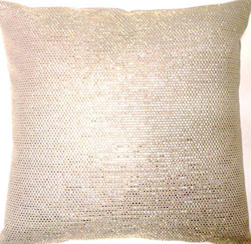 (Gold Metallic Decorative Pillow Throw Case Woven Cushion Cover Osborne and Little Fabric )