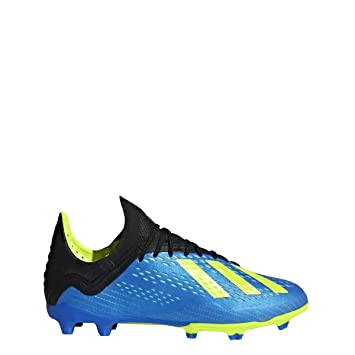 ac452b9fcf9 adidas X 18.1 FG Cleat - Kid s Soccer 1.5 Blue Solar Yellow Core Black