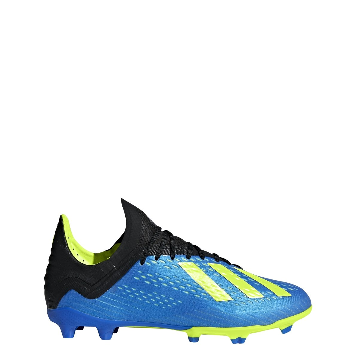 adidas X 18.1 Kid's Firm Ground Soccer Cleats (2.5) Blue/Yellow