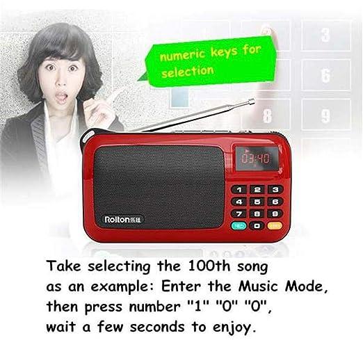 Rolton Tragbare Mini Fm Radio Lautsprecher Eingebauter Verstärker Musik Player Tf-karte Usb Für Pc Telefon Mit Led-anzeige Taschenlampe Radio