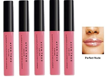 Avon True Colour Glazewear Lip Gloss Pack Of 5 Perfect Nude