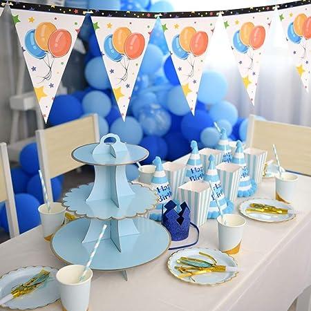 Canciones Tema Azul Fiesta De Cumpleaños Combinación ...