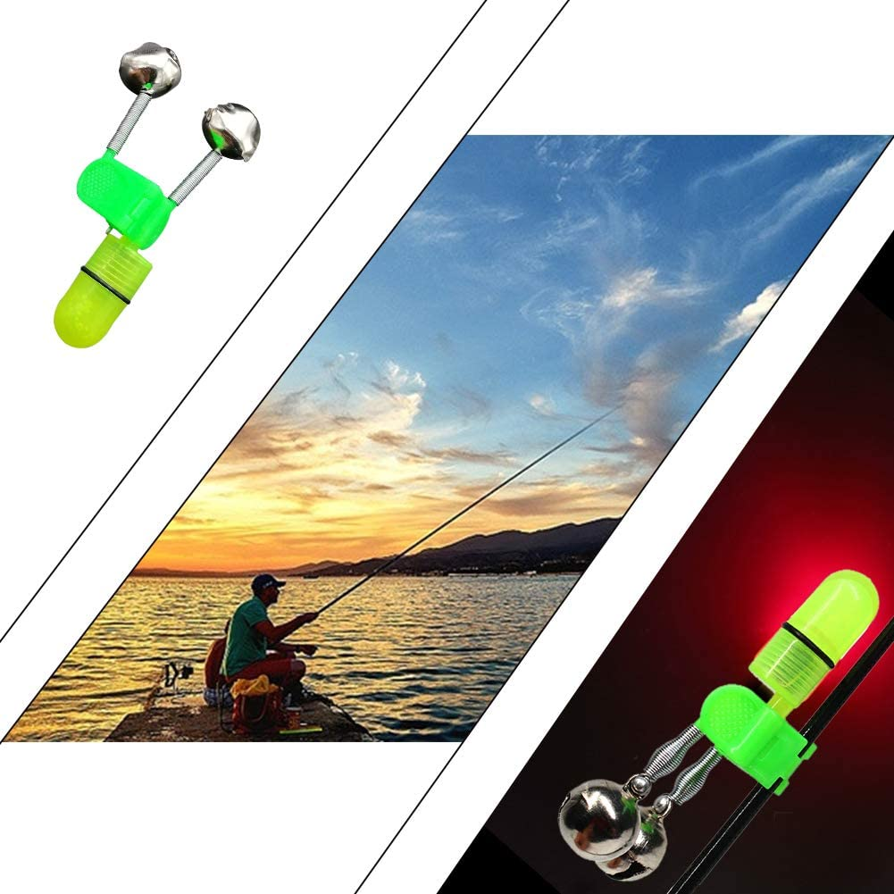 Fishing rod bite alarm bell bell with clip alert fishing tackle 3 pcs in pack