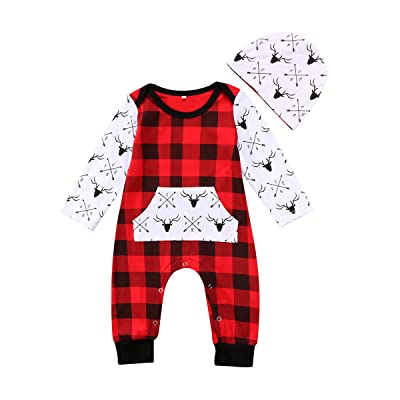 34b139f98c8c Emmababy Baby Boys Long Sleeve Romper Winter Sweater Jumpsuit ...