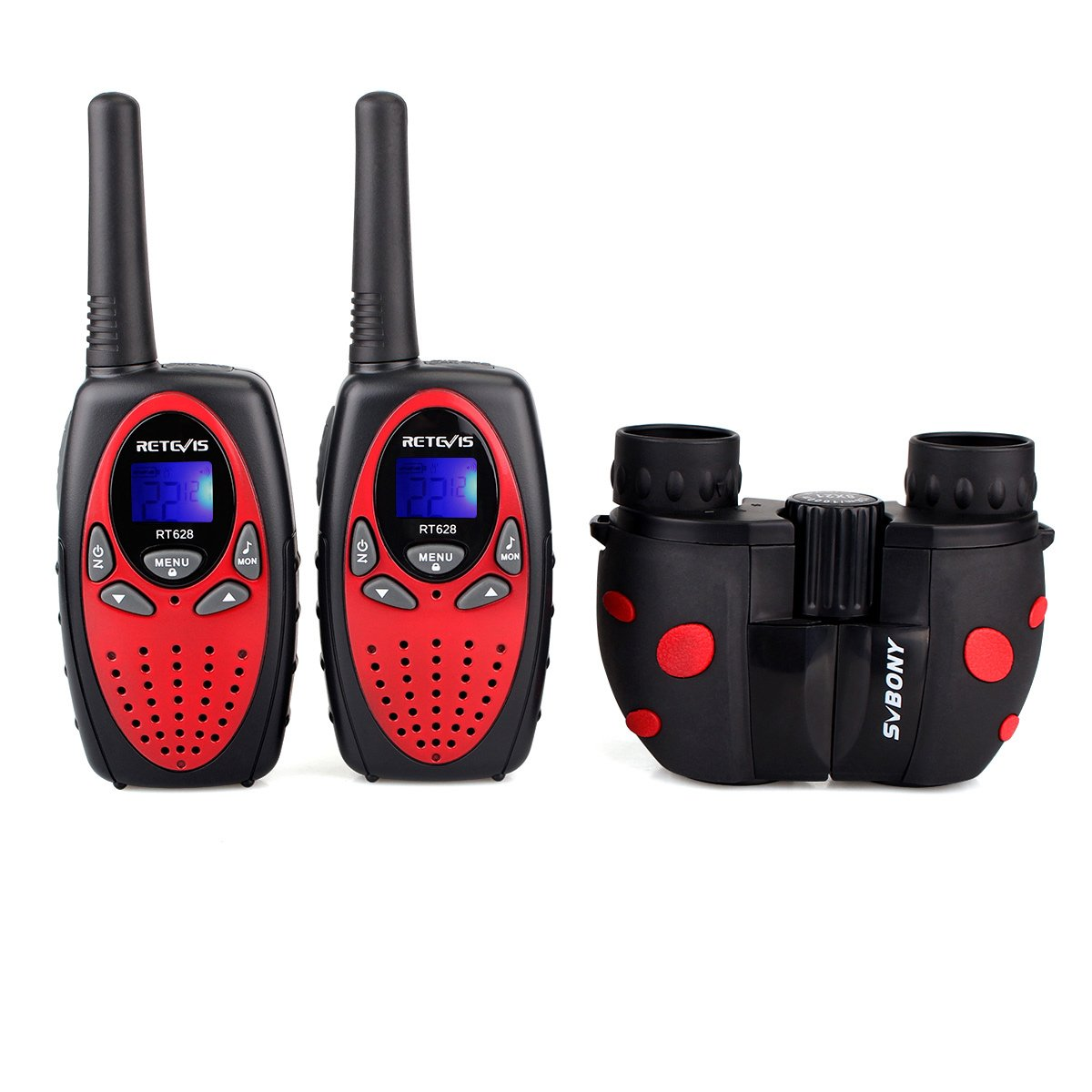 Retevis RT628 Kids Walkie Talkies 22 CH FRS (2 Pack) and Kids Binocular for Outdoor Play Toy Walkie Talkies for Boys and Girls(1 Pack) by Retevis (Image #3)