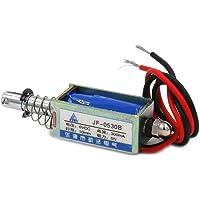 Fabricen JF-0530B - Electroimán solenoide (6 V, 300