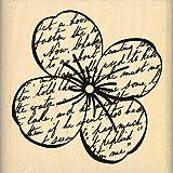 Florilèges Design FD115027 Tampon Scrapbooking Grande Fleur de Mai Beige 5 x 5 x 2,5 cm