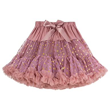 562b6ab2de Free- Fisher Girl Dress Stars Sequins Fluffy Tulle Pleated Tutu Skirt  Princess Ballet Dance Pettiskirt Pink 5-6years/130: Amazon.co.uk: Clothing