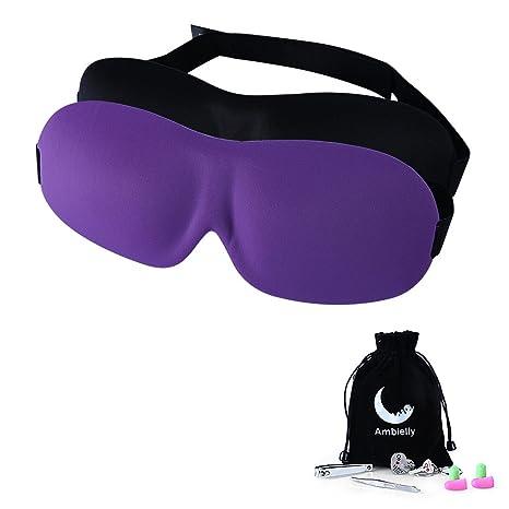 La máscara de ojo / la máscara del sueño, dormir Ambielly 2pcs protectores para los