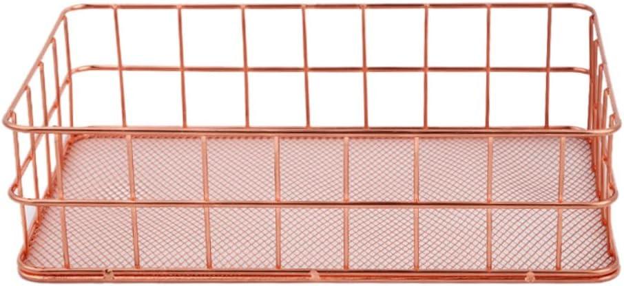 Handfly Panier de Rangement en m/étal Or Rose en Maille m/étallique Organiseur /à Crayon Bureau Chambre /à Coucher de Salle de Bain Organiseur de Cuisine D