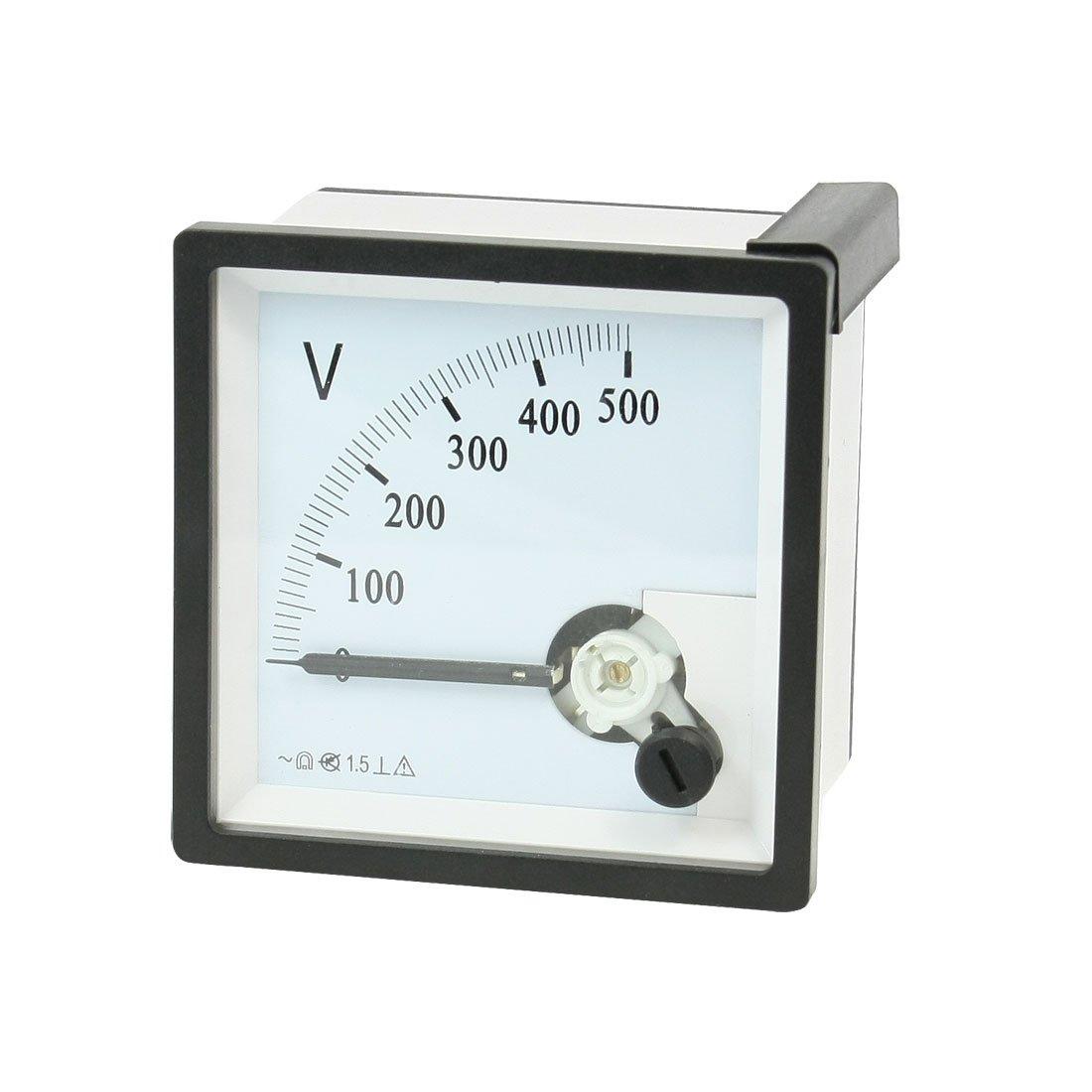 AC 0–500V zéro cadran carré de panneau analogique mètre de tension voltmètre Sourcingmap a13051300ux0160