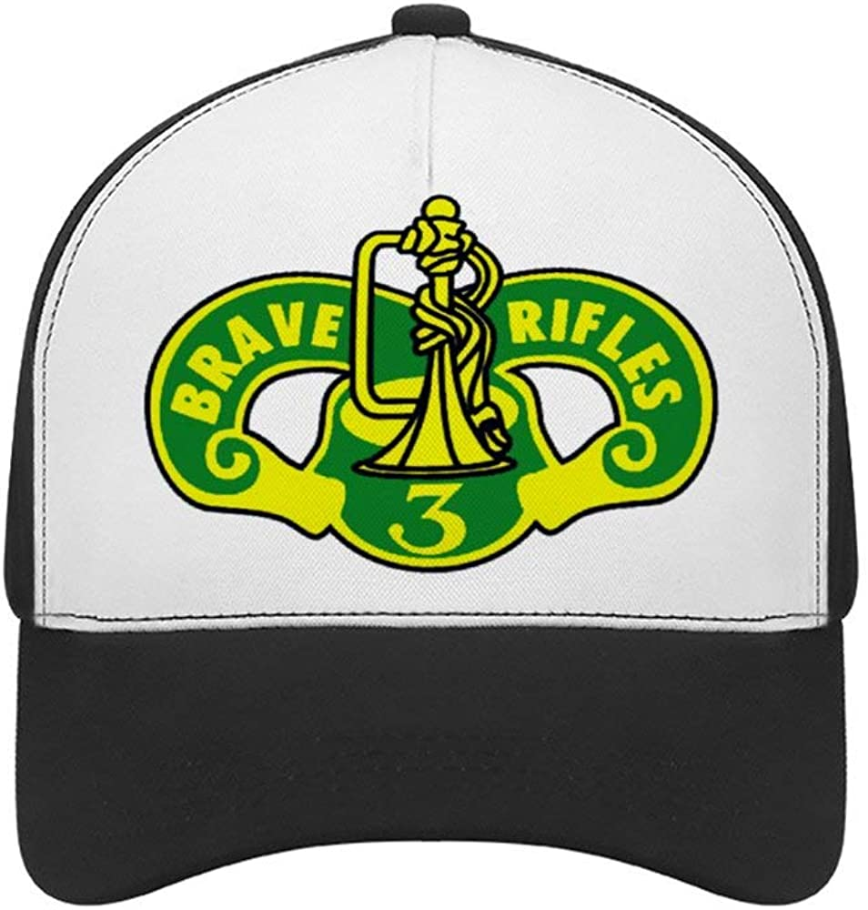 Feng Xiaoli 3rd Cavalry Regiment Brave Rifles Mesh Trucker Hat Square Patch Baseball Caps Adjustable Strapback Cap