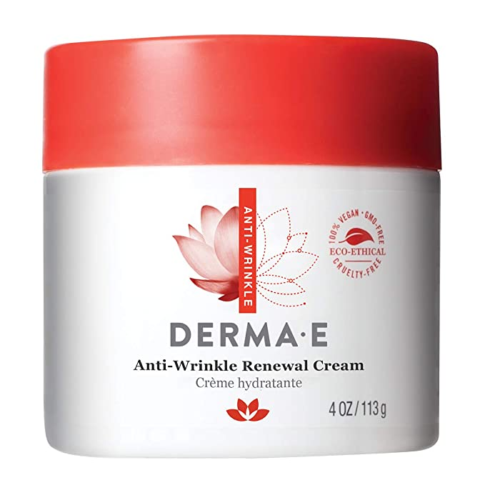 Amazon.com: DERMA E קרם חידוש נגד קמטים עם ויטמין A RetTYD Palmitate, מפחית את המראה של קווי גיל וקמטים: Derma E: Beauty