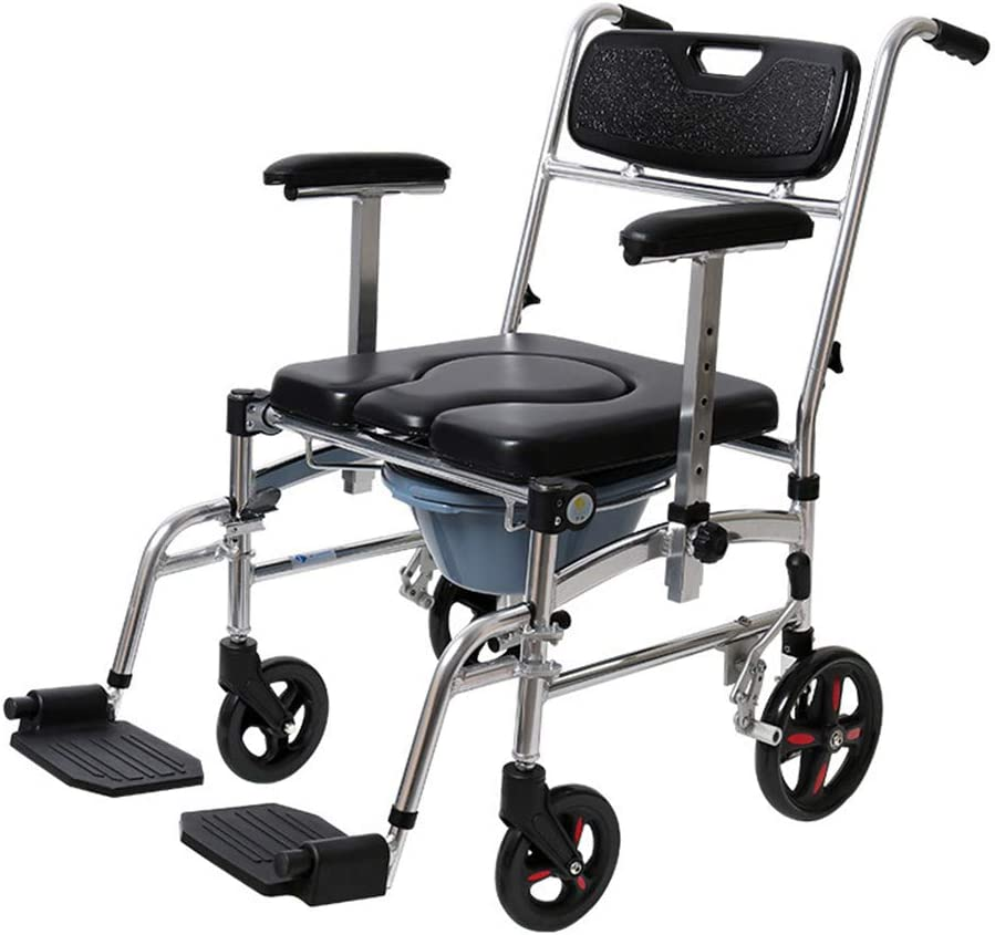 Bedside Commodes Bedroom Toilet Chair, Toilet Seats & Commodes Toilet Shower Toilet, Folding Portable Commode Toilet Seat und Frame für die Disabled, Elderly/Pregnant/Disabled Toilet Chair